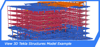 View 3D Tekla Structures Model Example
